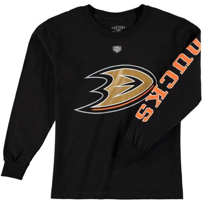 Dětské tričko Old Time Hockey Two Hit Long Sleeve Anaheim