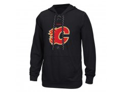 Mikina Center Ice TNT Logo Reflect Performance Hoodie - Black Calgary