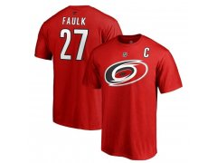 Tričko 27 Justin Faulk Stack Logo Name & Number Carolina