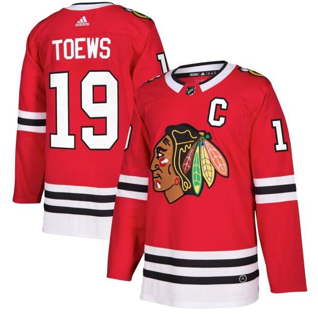 Dres 19 Jonathan Toews adizero Home Authentic Player Pro Chicago