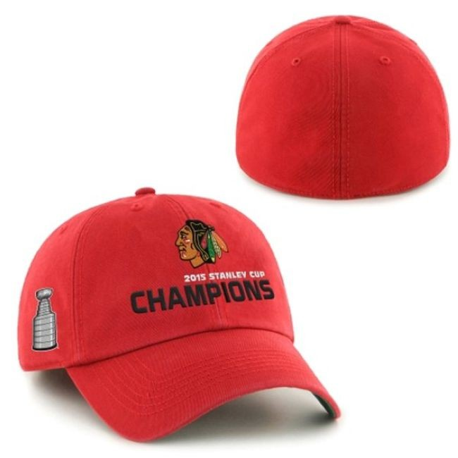 Kšiltovka 2015 Stanley Cup Champions Franchise RED Chicago