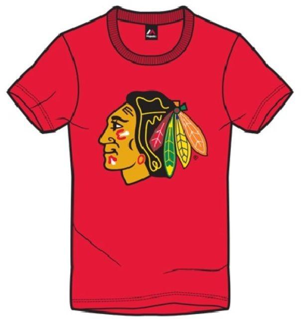 Tričko Majestic Jask - červené Chicago