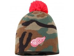 Kulich Reebok Camo Cuffless Knit Beanie With Pom Detroit