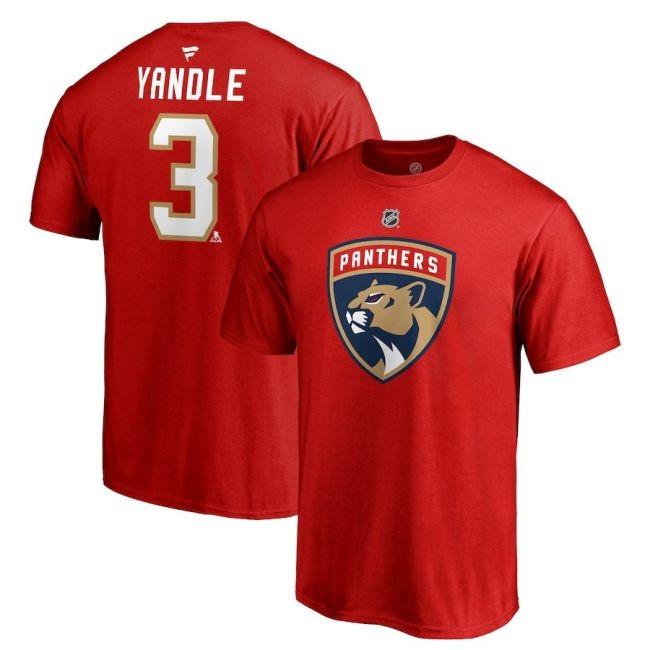 Tričko 3 Keith Yandle Stack Logo Name & Number Florida