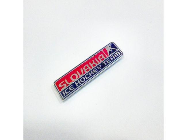 Odznak SLOVAKIA ICE HOCKEY TEAM kovový malý