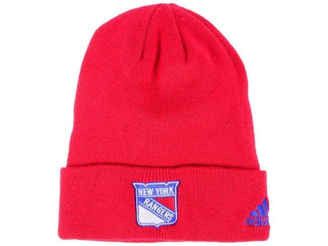 Zimní čepice adidas NHL Basic Cuff Knit RED NYR