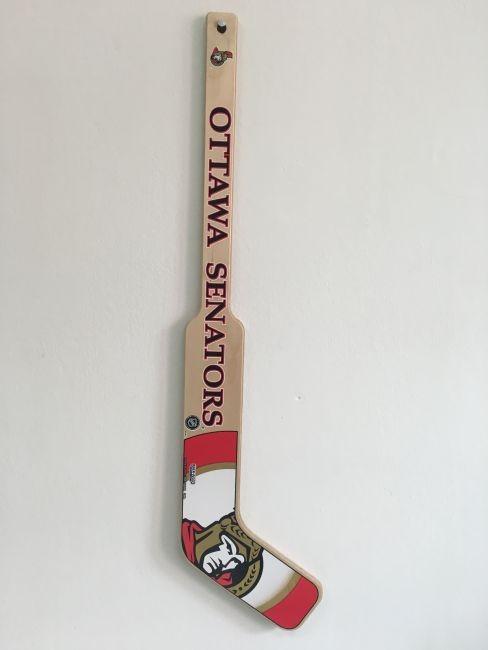Dřevěná minihokejka Brankářská Ottawa