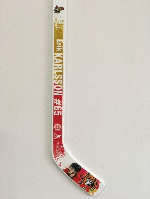 Plastová Minihokejka 65 Erik Karlsson NHL Player Ottawa