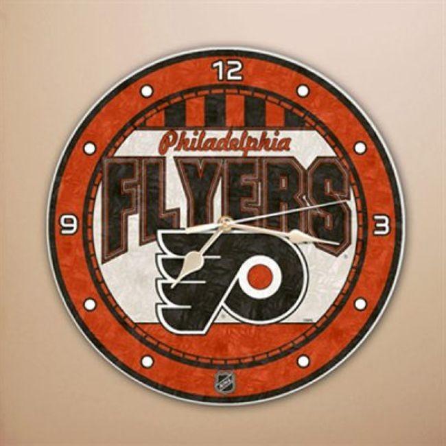 NHL nástěnné hodiny Art Glass Wall Philadelphia