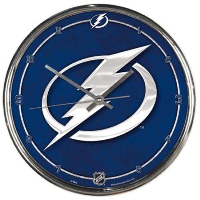 NHL nástěnné hodiny Chrome Tampa