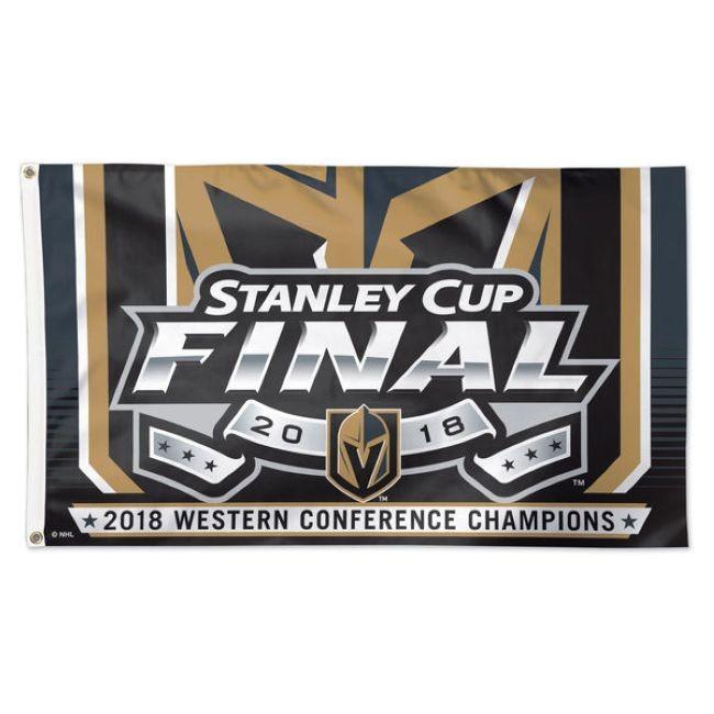 Vlajka 2018 Western Conference Champions On-Ice Flag Vegas